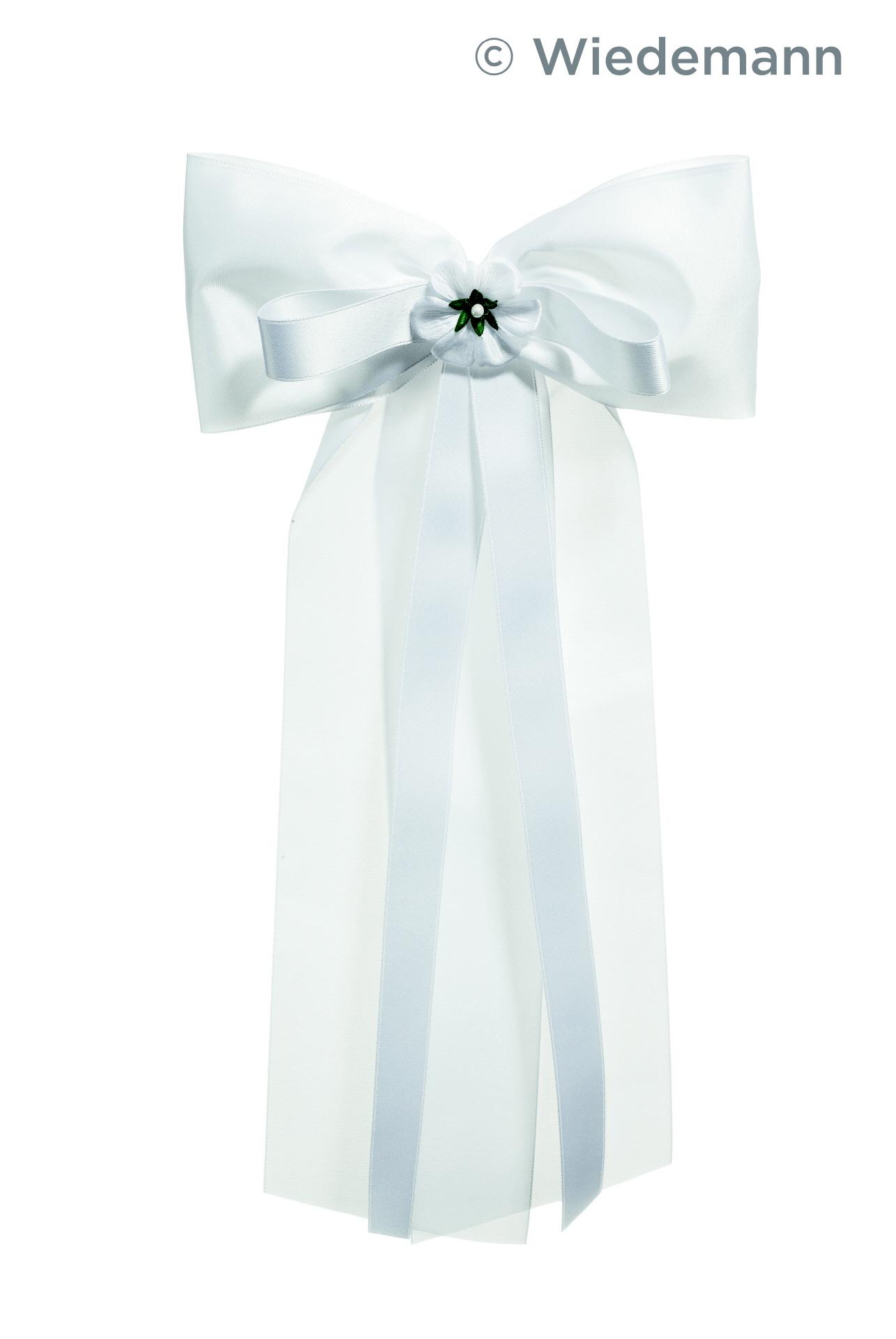 Kommunionskerze Kerzen Schleifen aus Satin Weiß Kerzenschleife zur Taufkerze